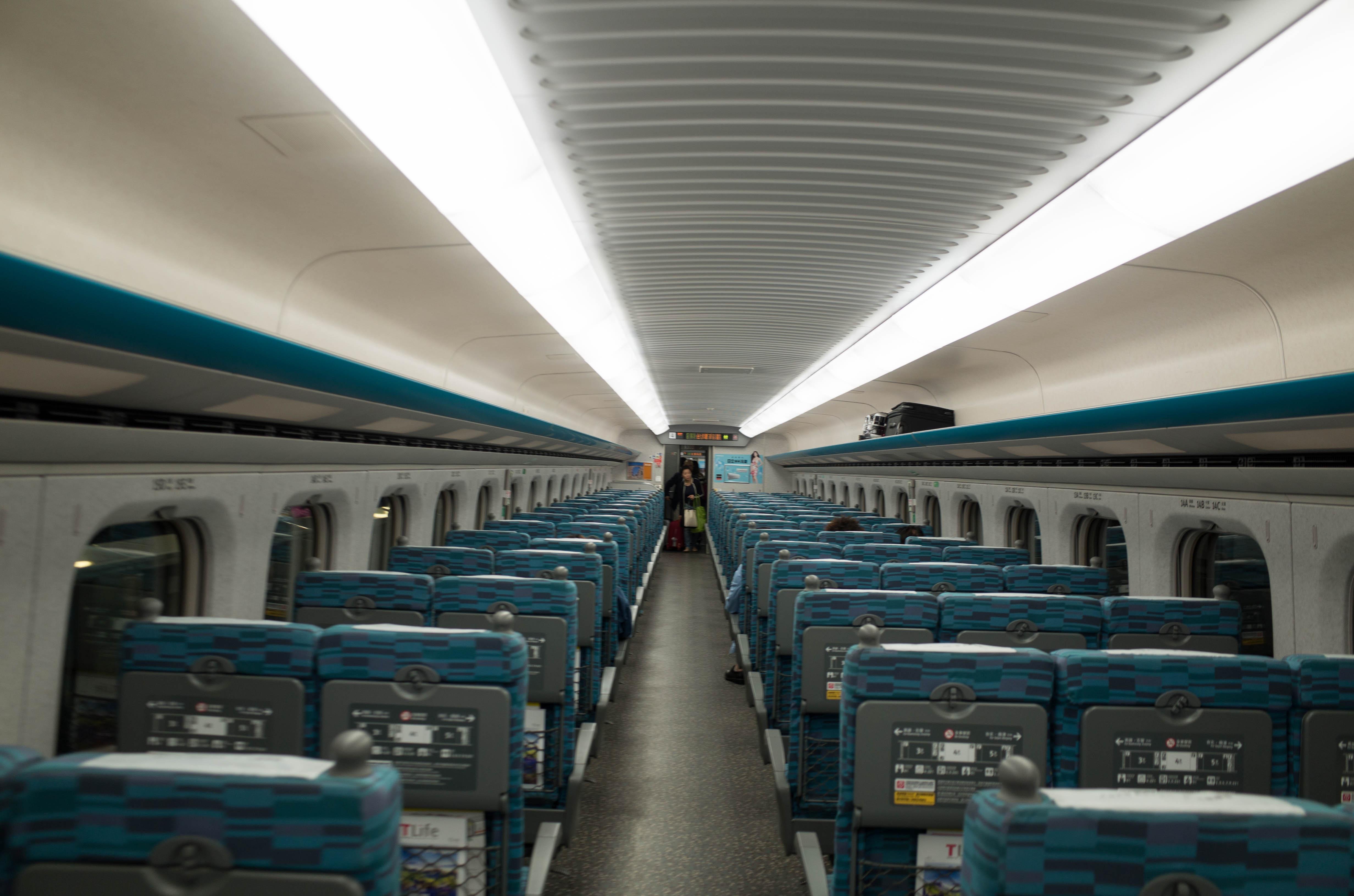 台湾新幹線の車内