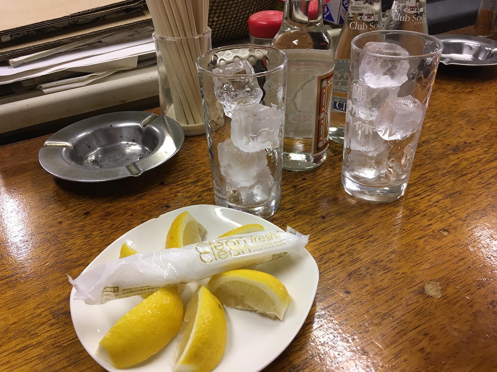 レモンサワー、セルフ