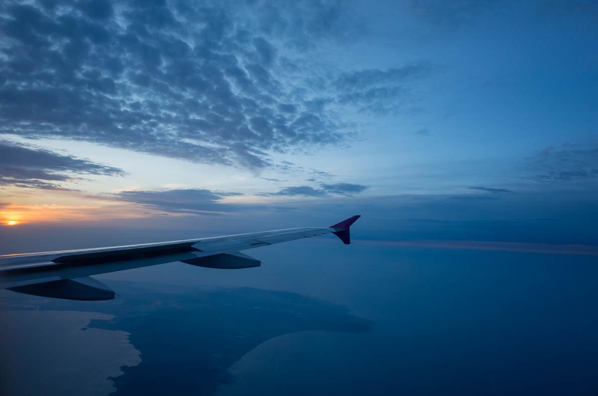 飛行機の外